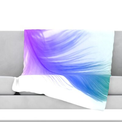 Feather Throw Blanket Size: 80 L x 60 W