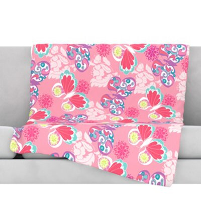Baroque Butterflies Throw Blanket Size: 80 L x 60 W
