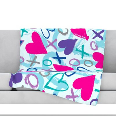 Hearts A Flutter Throw Blanket Size: 40 L x 30 W