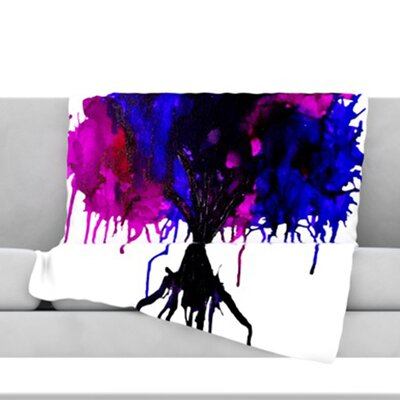 Weeping Willow Throw Blanket Size: 40 L x 30 W