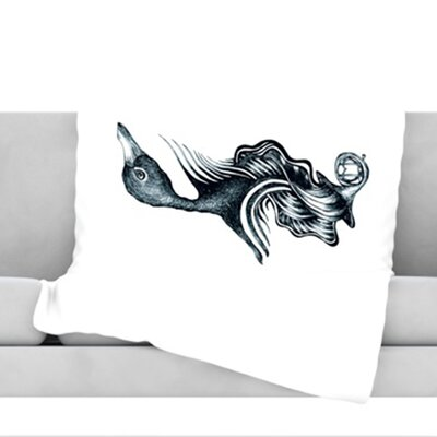 Swan Horns Throw Blanket Size: 40 L x 30 W