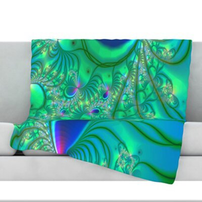 Fractal Throw Blanket Size: 60 L x 50 W