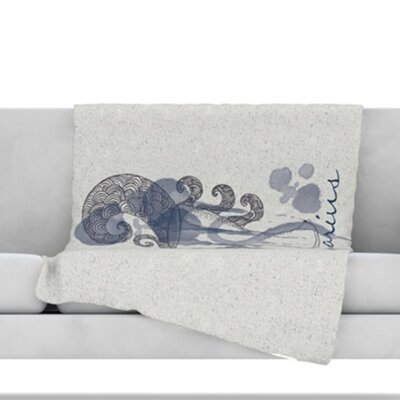 Aquarius Throw Blanket Size: 80 L x 60 W