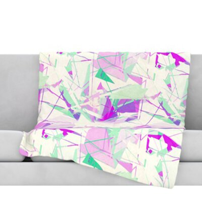 Shatter Throw Blanket Color: Purple, Size: 60 L x 50 W
