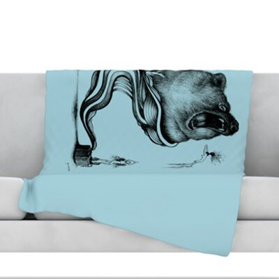 Hot Tub Hunter II Throw Blanket Size: 80 L x 60 W