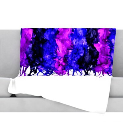 Drop Throw Blanket Color: Purple, Size: 80 L x 60 W