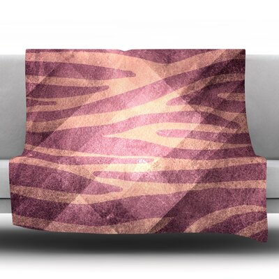 Pink Zebra Fleece Throw Blanket