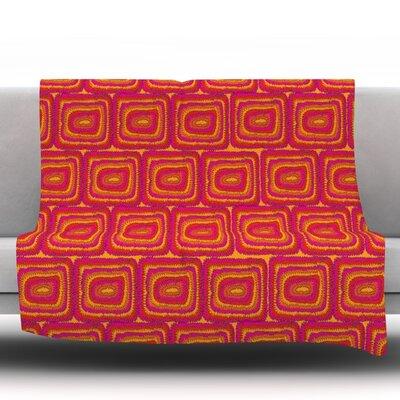 Bright Squares by Nandita Singh Fleece Throw Blanket Size: 90 H x 90 W x 1 D
