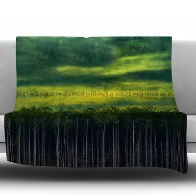 I Like This Place by Robin Dickinson Fleece Throw Blanket Size: 40 H x 30 W x 1 D