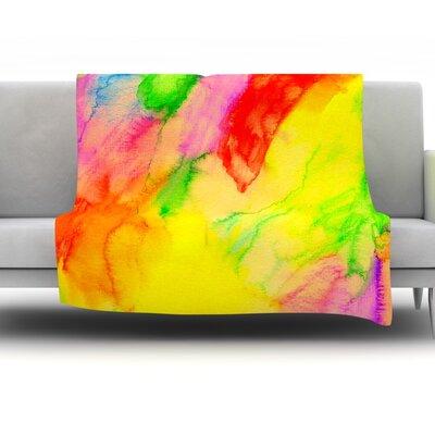Chemical Lovestory by Sreetama Ray Fleece Throw Blanket SR1023AFB02