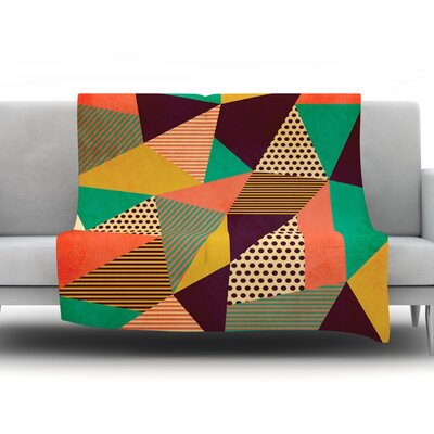 Geometric Love II by Louise Machado Fleece Throw Blanket Size: 40 H x 30 W x 1 D