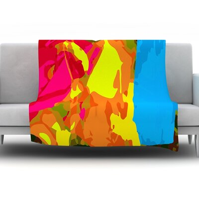 Colored Plastic by Matthias Hennig Micro Throw Blanket Size: 80 H x 60 W x 1 D