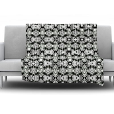 Flor by Matthias Hennig Fleece Throw Blanket Size: 80 H x 60 W x 1 D