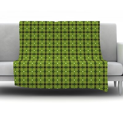 Floral by Matthias Hennig Fleece Throw Blanket Size: 40 H x 30 W x 1 D