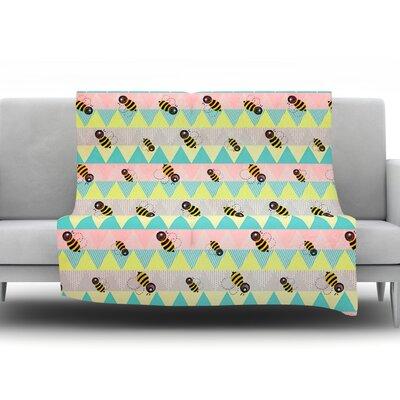 Little Bee by Louise Machado Fleece Throw Blanket Size: 80 H x 60 W x 1 D