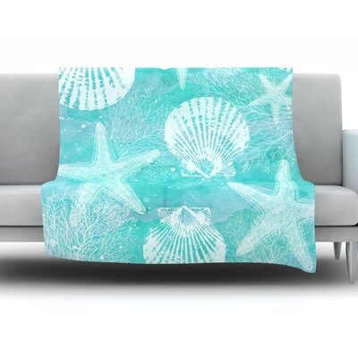 Seaside by Sylvia Cook Fleece Throw Blanket Size: 40 H x 30 W x 1 D