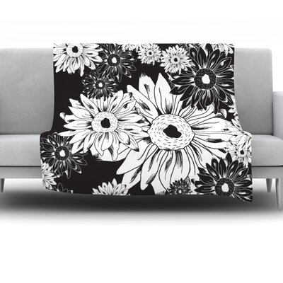 Midnight Florals by Laura Escalante Fleece Throw Blanket Size: 40 H x 30 W x 1 D