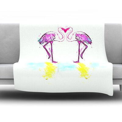 Love by Oriana Cordero Fleece Throw Blanket Size: 60 H x 50 W x 1 D