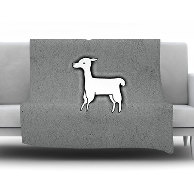Llama One by Monika Strigel Fleece Throw Blanket Size: 60 H x 50 W x 1 D