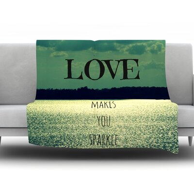Love Makes You Sparkle by Robin Dickinson Fleece Throw Blanket Size: 80 H x 60 W x 1 D