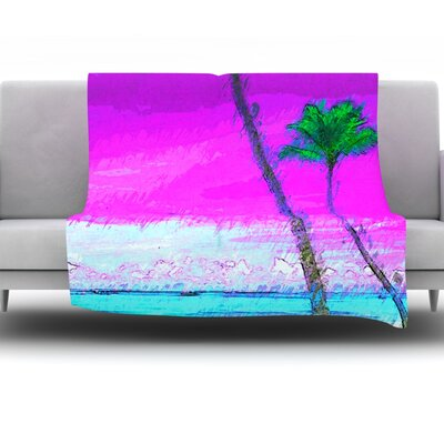 Caribe S by Oriana Cordero Fleece Throw Blanket Size: 90 H x 90 W x 1 D