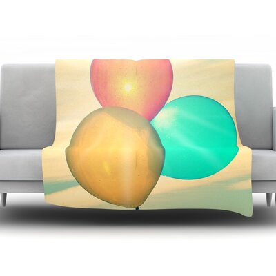 Balloons by Robin Dickinson Fleece Throw Blanket Size: 40 H x 30 W x 1 D