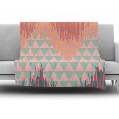 Ikat Geometrie II by Nika Martinez Fleece Throw Blanket Size: 90 H x 90 W x 1 D