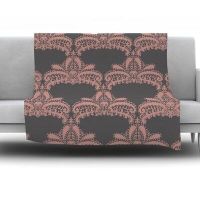 Decorative Motif by Nandita Singh Fleece Throw Blanket Color: Pink/Bronze, Size: 80 H x 60 W x 1 D