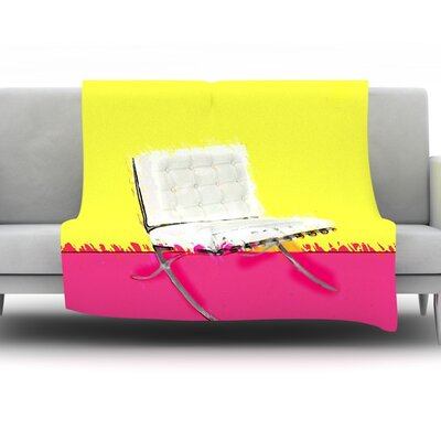 Barcelona Chair by Oriana Cordero Fleece Throw Blanket Size: 80 H x 60 W x 1 D