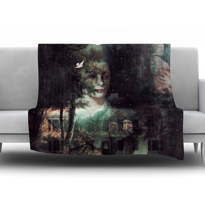 Lady Grace by Suzanne Carter Fleece Throw Blanket Size: 40 H x 30 W x 1 D
