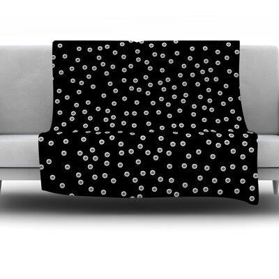 Watercolor Dots by Skye Zambrana Fleece Throw Blanket Size: 80 H x 60 W x 1 D