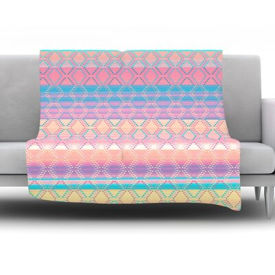 Denin and Diam New Mexico by Nina May Fleece Throw Blanket Size: 40 H x 30 W x 1 D
