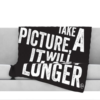 Take a Picture Fleece Throw Blanket Size: 40 L x 30 W