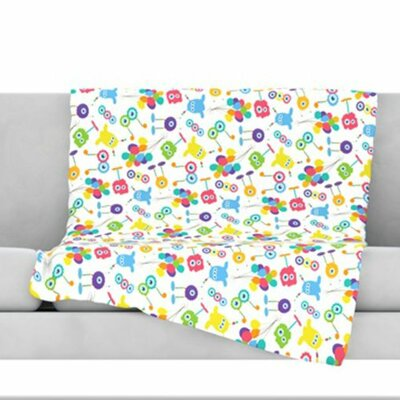 Fun Creatures Fleece Throw Blanket Size: 40 L x 30 W