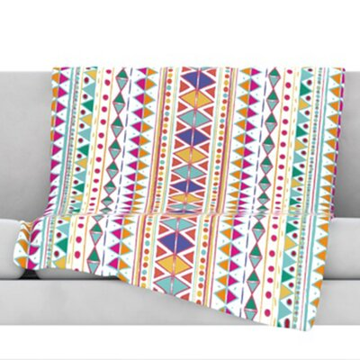 Native Fiesta Fleece Throw Blanket Size: 60 L x 50 W