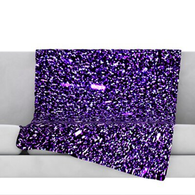 Purple Dots Fleece Throw Blanket Size: 40 L x 30 W
