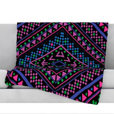 Neon Pattern Fleece Throw Blanket Size: 80 L x 60 W