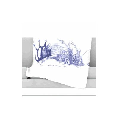 Queen of The Sea Fleece Throw Blanket Size: 40 L x 30 W, Color: Purple