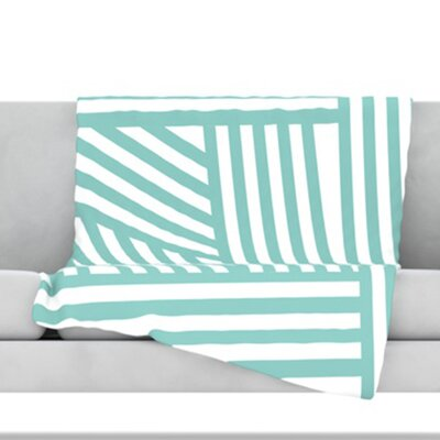 Stripes Fleece Throw Blanket Size: 40 L x 30 W