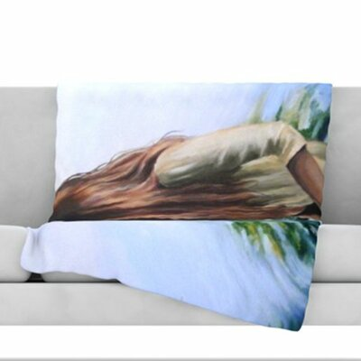 Knee Deep Fleece Throw Blanket Size: 60 L x 50 W