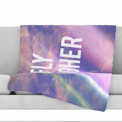 Fly Higher Fleece Throw Blanket Size: 60 L x 50 W