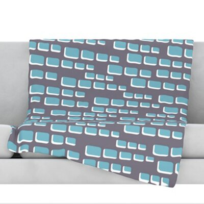 Cubic Geek Chic Fleece Throw Blanket Size: 40 L x 30 W