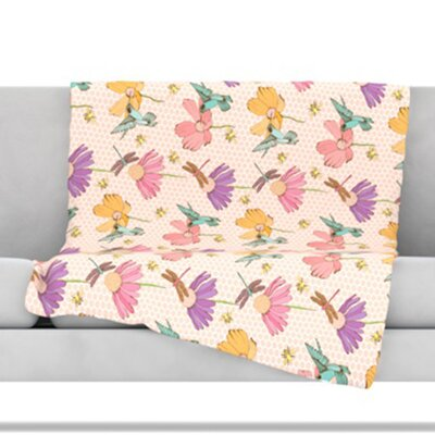 Magic Garden Fleece Throw Blanket Size: 80 L x 60 W