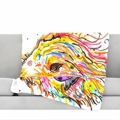 Koda Fleece Throw Blanket Size: 80 L x 60 W