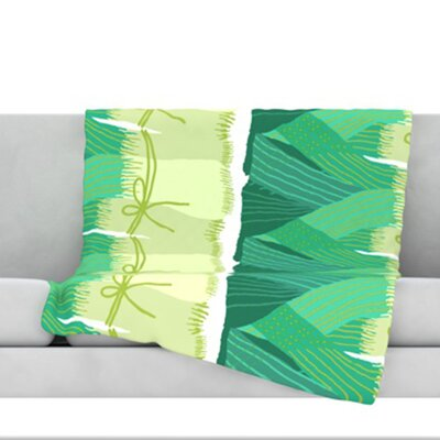 Leeks Fleece Throw Blanket Size: 40 L x 30 W