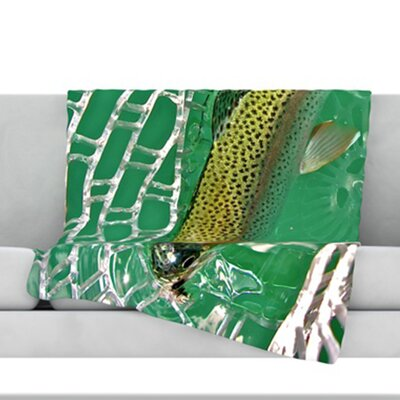 Catch Fleece Throw Blanket Size: 40 L x 30 W