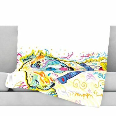 Milo Fleece Throw Blanket Size: 80 L x 60 W