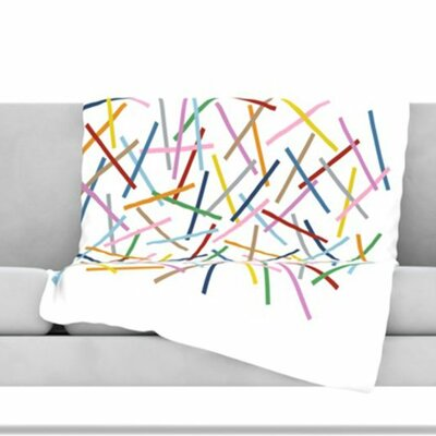 Sprinkles Fleece Throw Blanket Size: 80 L x 60 W