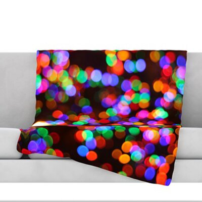 Lights II Fleece Throw Blanket Size: 40 L x 30 W