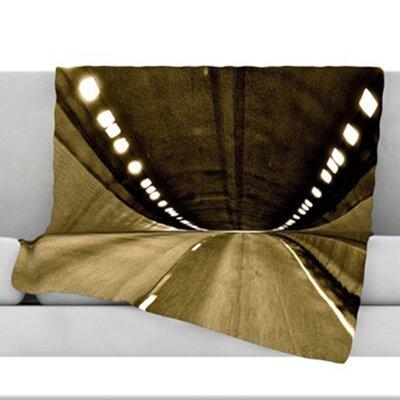 Tunnel Fleece Throw Blanket Size: 60 L x 50 W